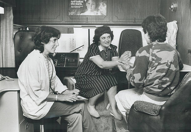 Miriam in Immigrant Women's Health Centre mobile unit.