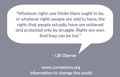 Ulli Diemer: Rights are won and rights can be lost