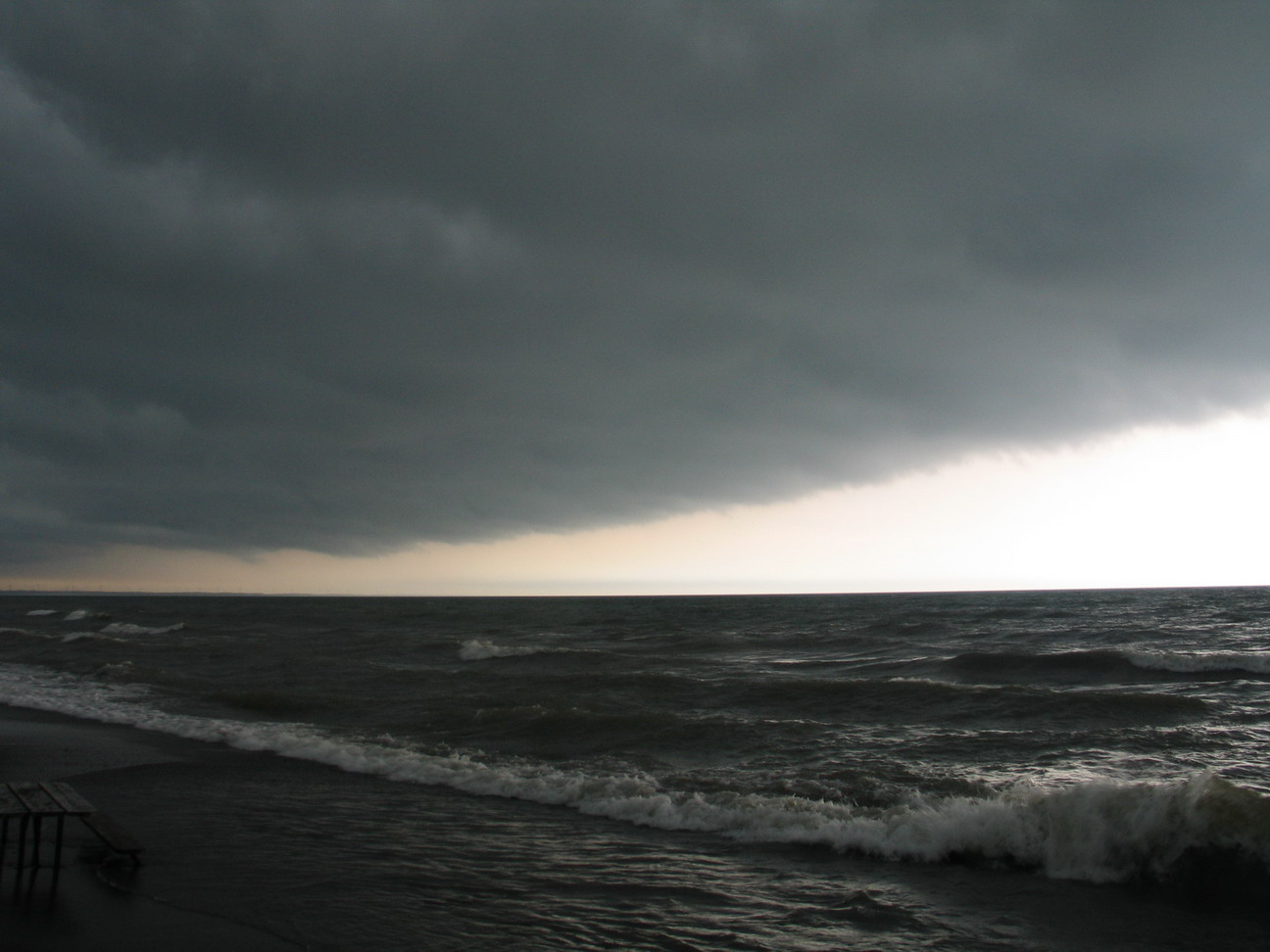 Lake Erie, storm approaching. Photo by Ulli Diemer