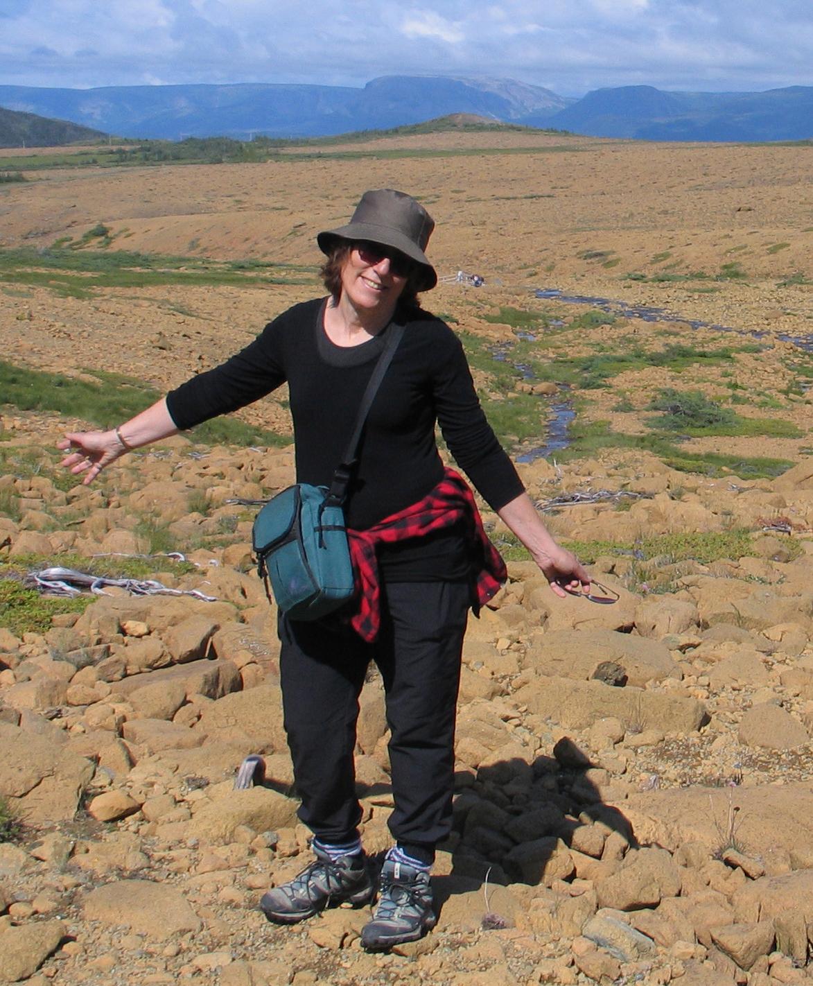 Miriam Garfinkle in the Tablelands, Gros Morne - Photo by Ulli Diemer